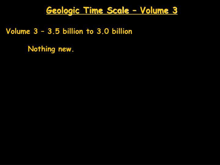Geologic Time Scale – Volume 3