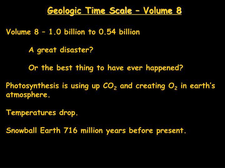 Geologic Time Scale – Volume 8