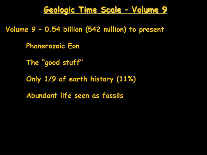 Geologic Time Scale – Volume 9
