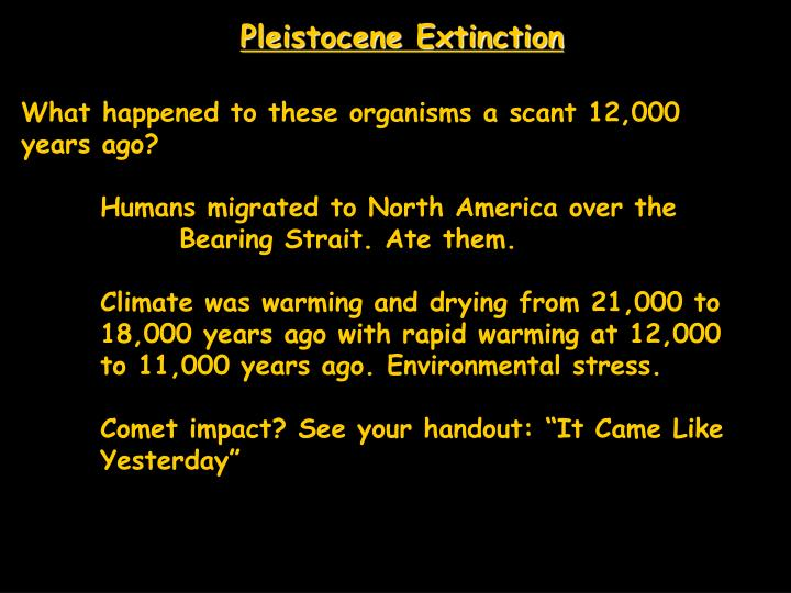 Pleistocene Extinction