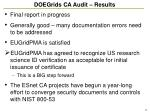 doegrids ca audit results