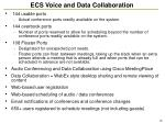 ecs voice and data collaboration