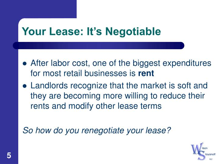Your Lease: It's Negotiable