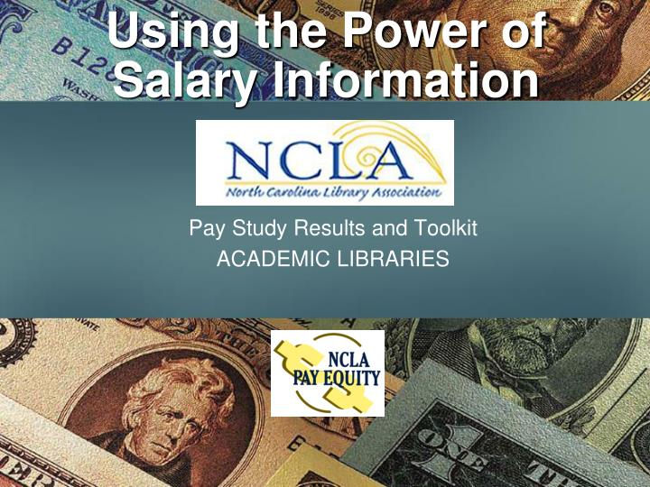 using the power of salary information n.