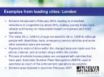 examples from leading cities london