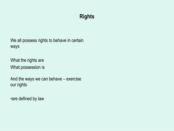 rights n.