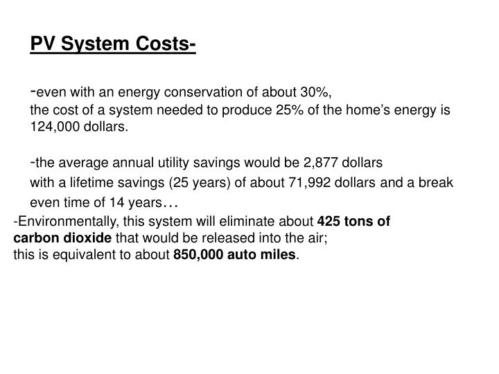 PV System Costs-
