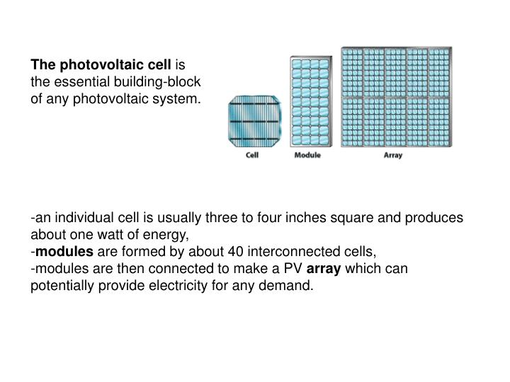 The photovoltaic cell