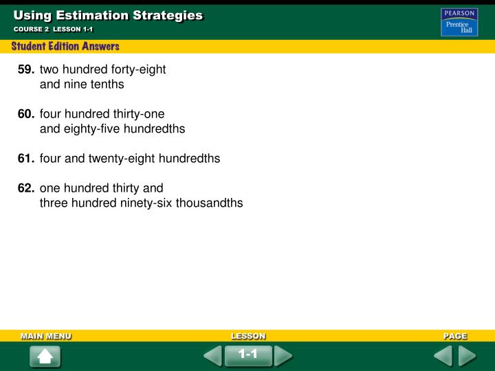 Using Estimation Strategies