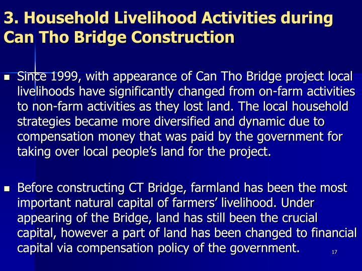 3. Household Livelihood Activities during Can Tho Bridge Construction
