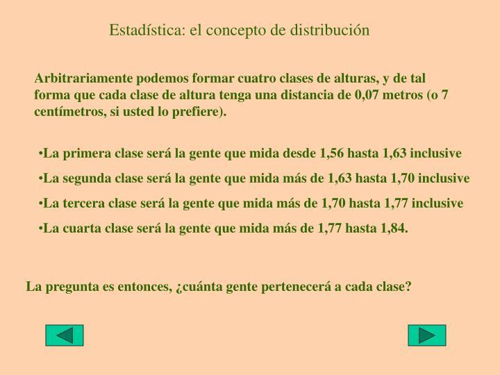 Estadística: el concepto de distribución