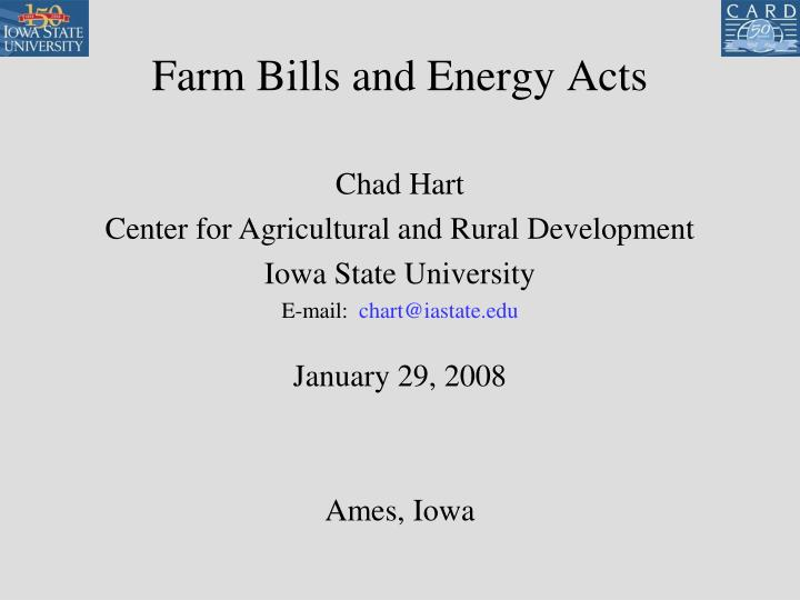 farm bills and energy acts n.