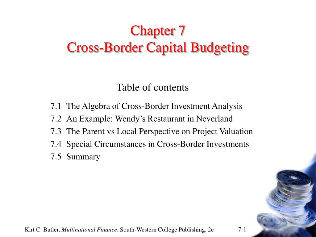 ppt chapter 7 cross border capital budgeting powerpoint