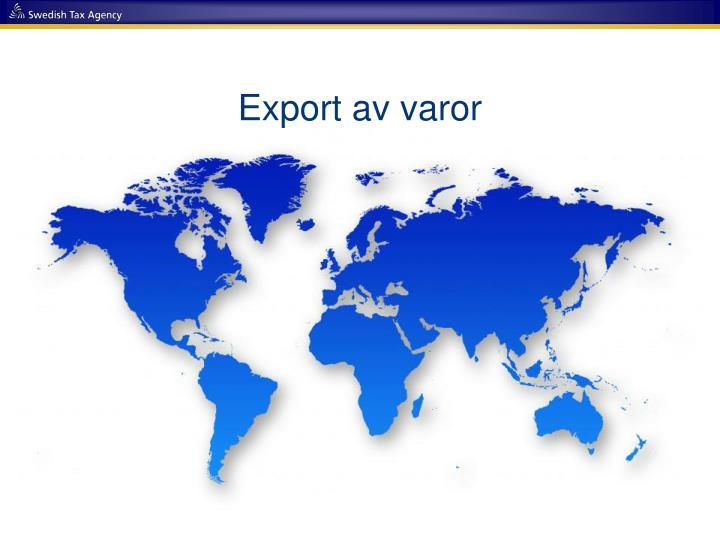 Export av varor