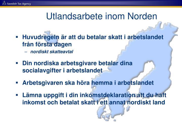 Utlandsarbete inom Norden