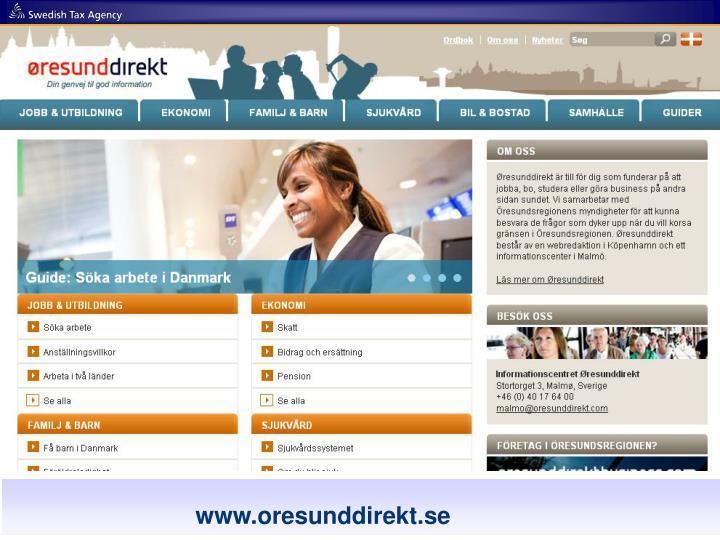 www.oresunddirekt.com