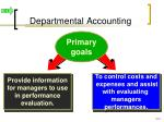 departmental accounting
