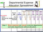 departmental expense allocation spreadsheet1