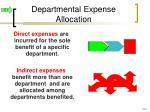 departmental expense allocation