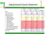 departmental income statement