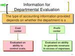 information for departmental evaluation1