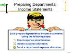 preparing departmental income statements