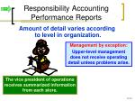 responsibility accounting performance reports1