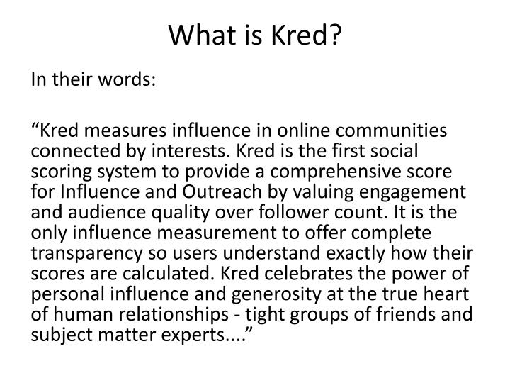 What is kred