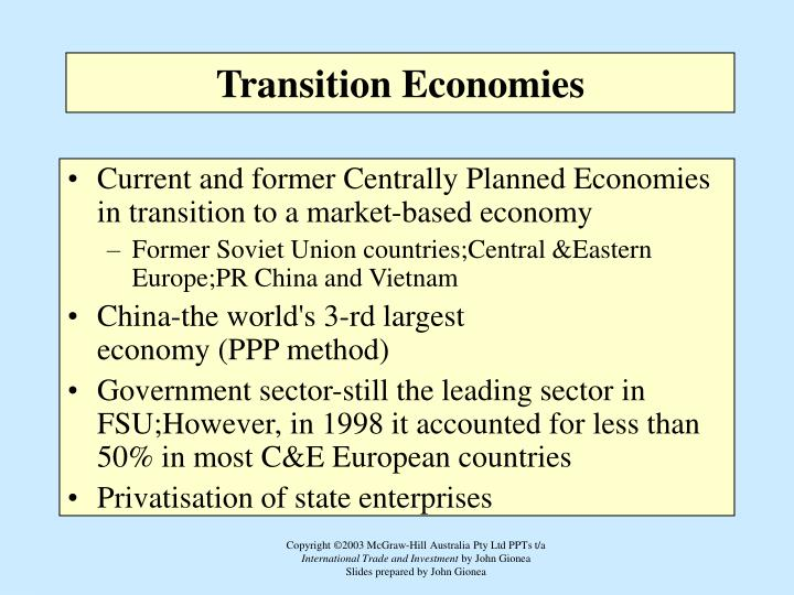 problems that economies in transition faced The economic transition of the kind undertaken by the the new members face specific transition related problems problems faced by transition countries.