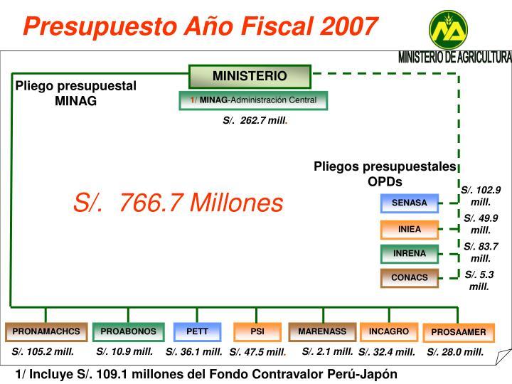 Presupuesto Año Fiscal 2007