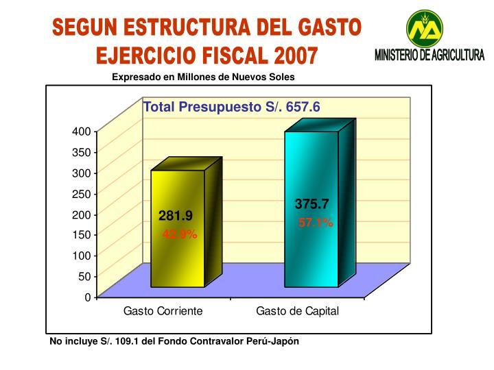 SEGUN ESTRUCTURA DEL GASTO