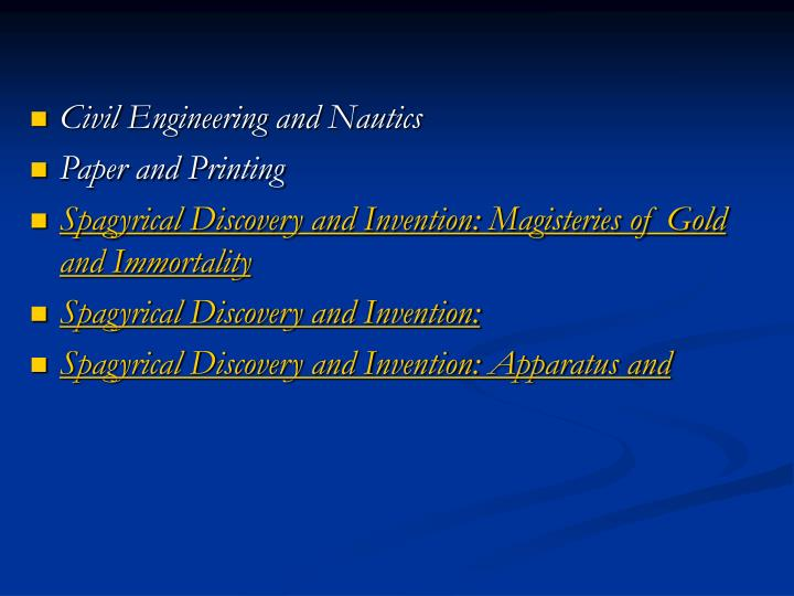 Civil Engineering and Nautics