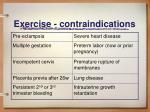 exercise contraindications