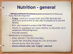 nutrition general