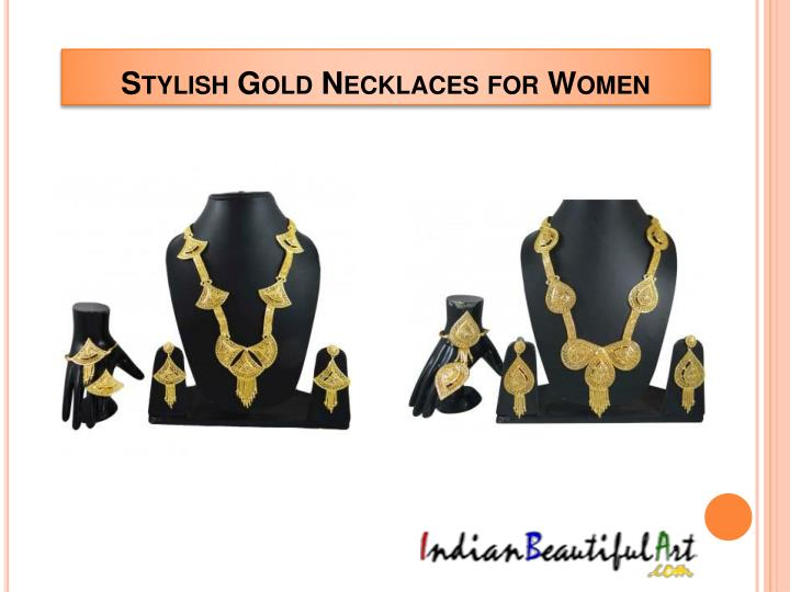 Stylish Gold Necklaces for Women