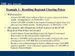 example 1 resulting regional clearing prices