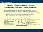 example 2 decreased local purchase requirement additional transfer capability