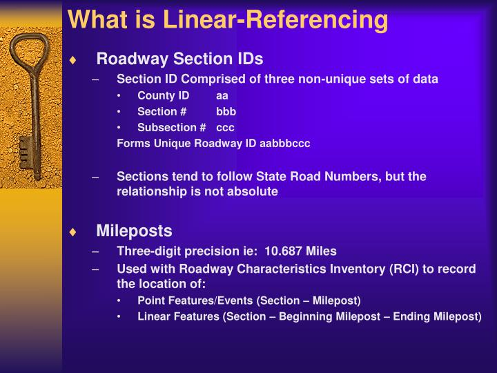 What is linear referencing