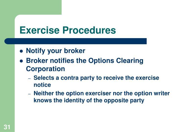 Exercise Procedures