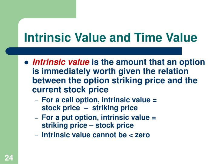 Intrinsic Value and Time Value