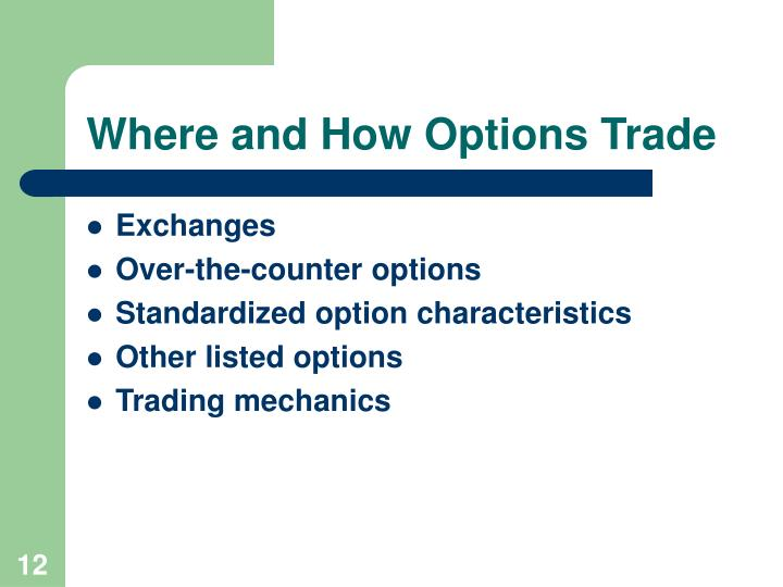 Where and How Options Trade