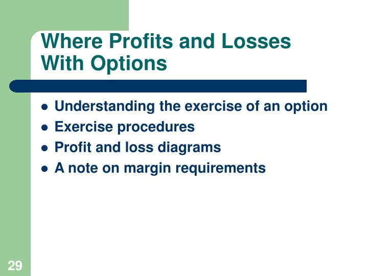 Where Profits and Losses    With Options