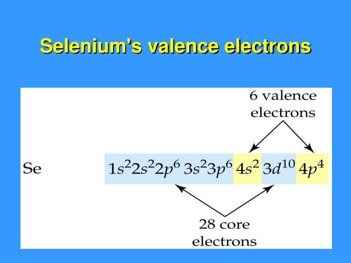 Selenium's valence electrons