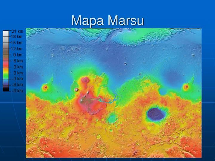 Mapa Marsu
