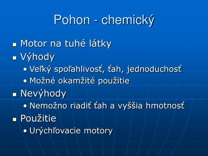 Pohon - chemický