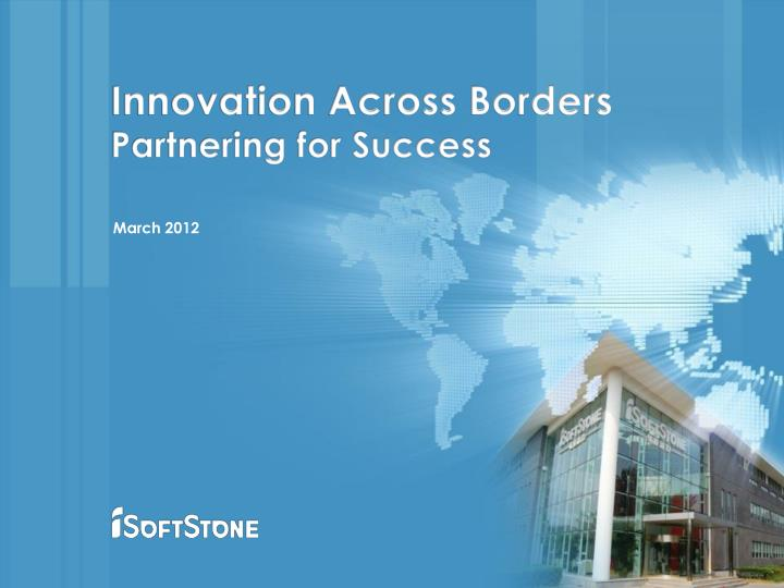 Innovation Across Borders