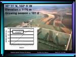 35 11 n 102 5 w elevation 1170 m growing season 181 d