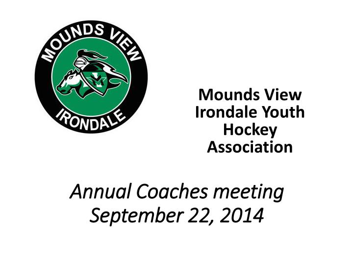 annual coaches meeting september 22 2014