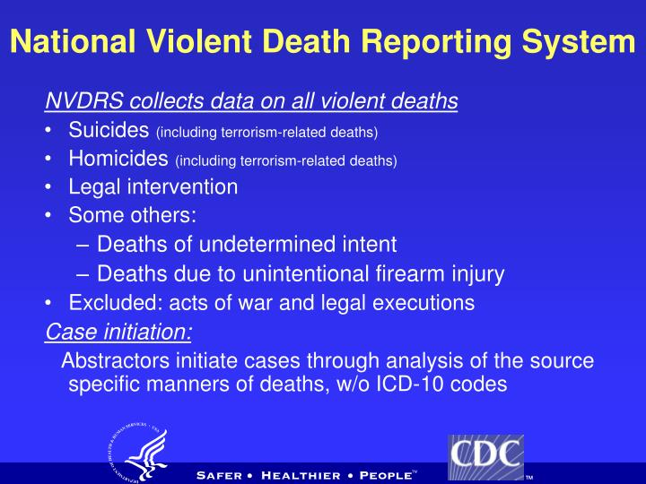 National Violent Death Reporting System