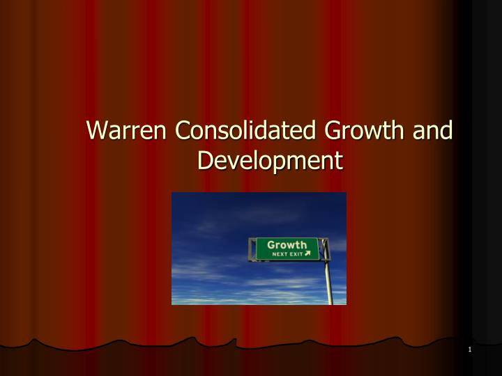 warren consolidated growth and development n.